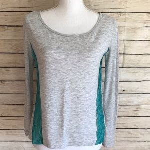 American Eagle Outfitters Long Sleeve Lace Top